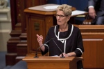 Ontario Premier Kathleen Wynne speaks at the National Assembly in Quebec City on September 21, 2017. (Francis Vachon/The Canadian Press)