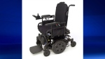 Police released a stock photo of the wheelchair that was stolen from a northeast garage sometime between Wednesday, Oct. 11, 2017, and 10 a.m., on Wednesday, Oct. 18, 2017.