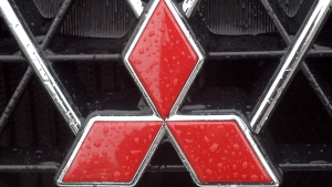 FILE - This April 23, 2004 file photo shows a Mitsubishi logo in Frankfurt, Germany. (AP Photo/Bernd Kammerer)
