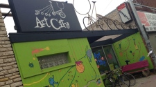 The organization, stationed in West Broadway, provides free art programming to inner city kids. (Steph Tsicos/CTV News)