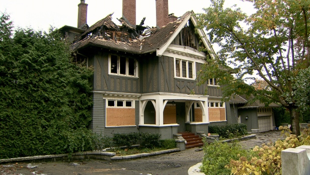 A multi-million-dollar home in Shaughnessy was destroyed by a fire on Sunday, Oct. 22, 2017.