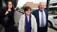 Pat Sorbara arrives for a Election Act bribery trial in Sudbury, Ontario, Thursday, Sept. 7, 2017. Sorbara, who was at the time the Ontario Liberal Party CEO, faces two charges and Gerry Lougheed, a local Liberal fundraiser, faces one charge. THE CANADIAN PRESS/Sean Kilpatrick