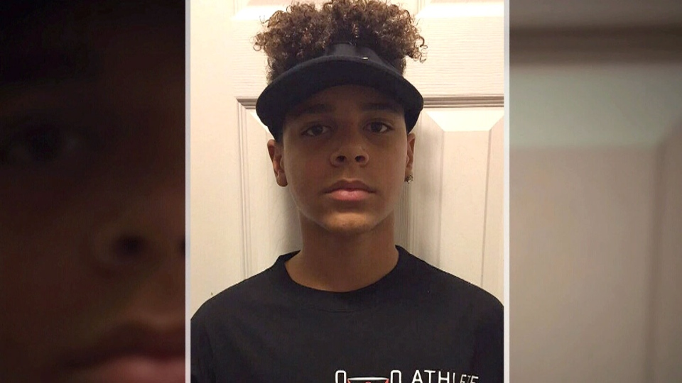 Zion Williams-Farrell, 14, is seen in this undated image.