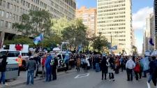 teachers strike, rally, college teachers