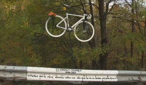 Clement Ouimet's bike will remain at this site in his memory.