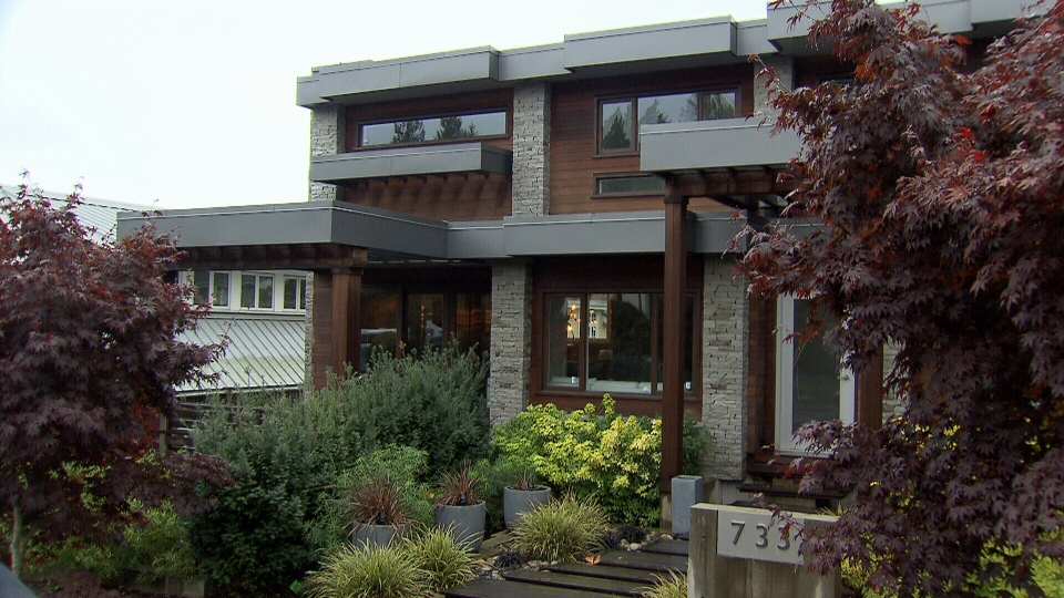 The District of West Vancouver says the home Raven Flello and Philip Garrow built at 733 20th St. was not approved by local officials and violates bylaws. (CTV Vancouver)