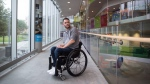 Brad Skeats, who has a spinal cord injury, poses for a photograph at the Blusson Spinal Cord Centre at Vancouver General Hospital, in Vancouver, B.C., on Wednesday October 25, 2017. People with spinal cord injuries now have a set of exercise guidelines for maintaining heart health to match those offered to the general population decades ago. (THE CANADIAN PRESS/Darryl Dyck)