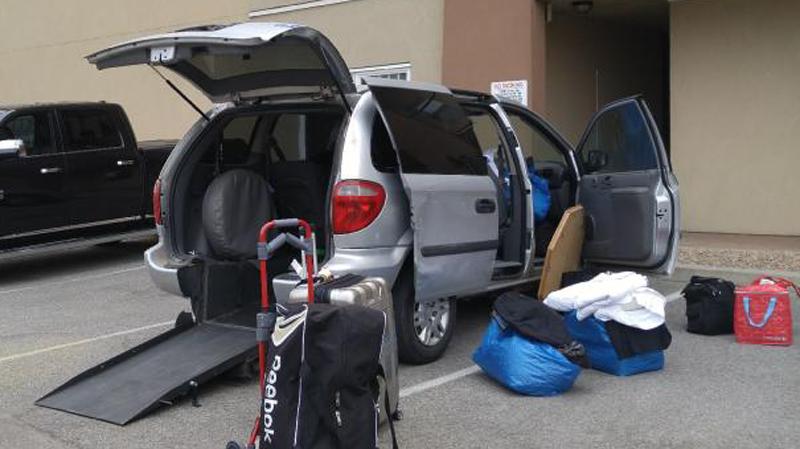 Wheelchair-accessible minivan