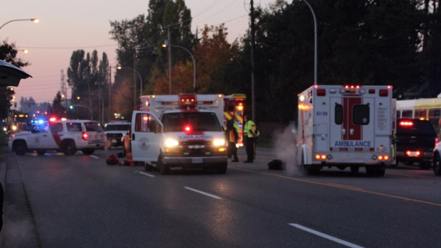 Elderly woman dies after auto accident in Surrey this morning