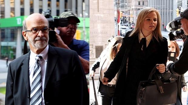 David Livingston, chief of staff to former Ontario premier Dalton McGuinty, and Laura Miller, deputy chief of staff to McGuinty, arrive at court in Toronto. THE CANADIAN PRESS/Colin Perkel