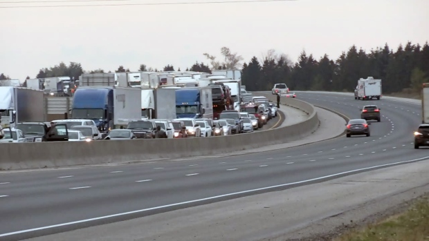 Fatal crash on Hwy 401 closes all eastbound lanes south of Kitchener