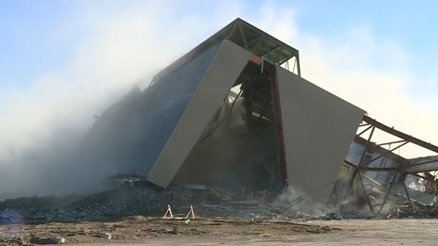 Old Mosaic Stadium grandstand demolition