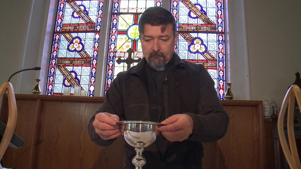 Reverend Lee Lambert at St. Mary's Anglican Church