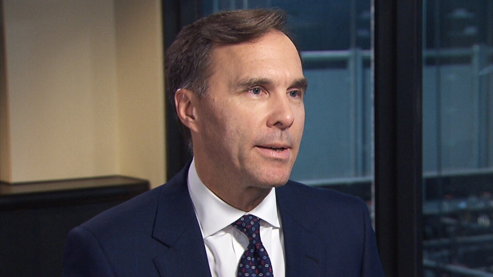 Finance Minister Bill Morneau on CTV's Question Period.