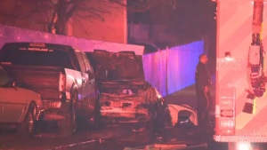 At least two people are dead and four others injured after a high-speed car crash in Kahnawake.
