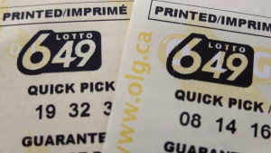 Lotto 649 tickets are shown here in this file photo. THE CANADIAN PRESS/Richard Plume, File