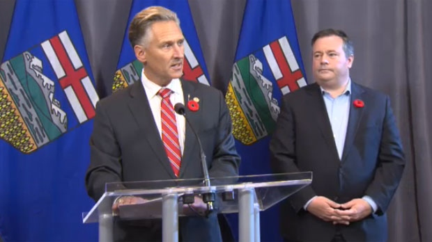 Dave Rodney, Calgary-Lougheed MLA, announced his retirement on October 29, 2017 with UCP leader Jason Kenney at his side.