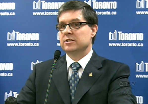 Toronto's Medical Officer of Health Dr. David McKeown speaks during a press conference at City Hall in Toronto, Tuesday, April, 28, 2009.