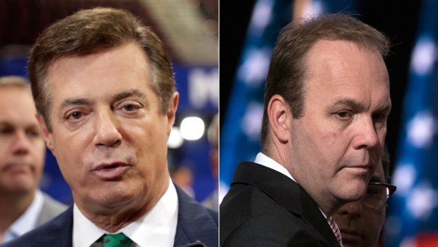 Paul Manafort, left, and Rick Gates