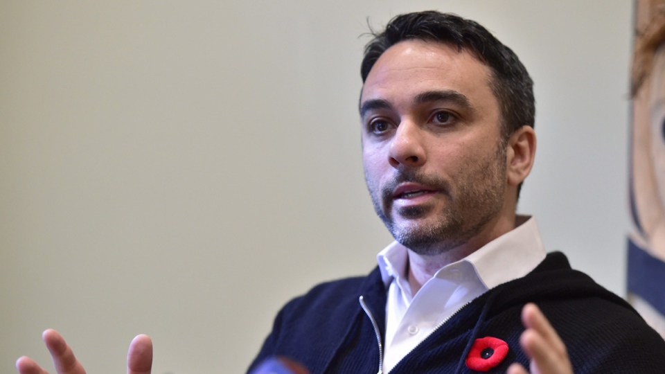 Brandon Stranzl, former CEO of Sears Canada, in Toronto on Oct. 30, 2017.(Frank Gunn /  THE CANADIAN PRESS)