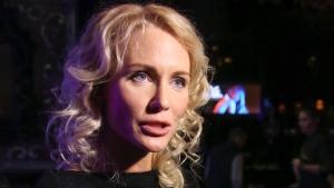 In this photo taken on Wednesday, Oct. 19, 2016, Russian journalist Yekaterina Gordon speaks to the media in Moscow, Russia.  (Boris Kudryavov/Komsomolskaya Pravda)