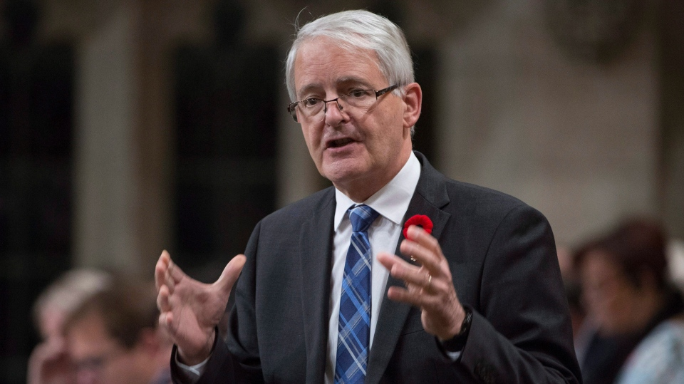 Transport Minister Marc Garneau responds to a question during Question Period in the House of Commons, in Ottawa on Friday, October 27, 2017. (THE CANADIAN PRESS/Adrian Wyld)
