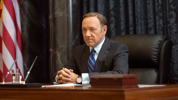 Kevin Spacey's future with Netflix just collapsed like a 'House of Cards' class=