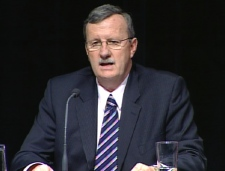 Ontario's acting chief medical officer of health Dr. David Williams confirms the cases in the Toronto-area, Tuesday, April 28, 2009.