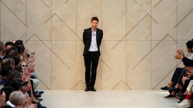 British fashion designer Christopher Bailey