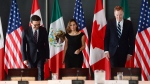 Minister of Foreign Affairs Chrystia Freeland meets for a trilateral meeting with Mexico's Secretary of Economy Ildefonso Guajardo Villarreal, left, and Ambassador Robert E. Lighthizer, United States Trade Representative, during the final day of the third round of NAFTA negotiations at Global Affairs Canada in Ottawa on Wednesday, Sept. 27, 2017. (Sean Kilpatrick / THE CANADIAN PRESS)