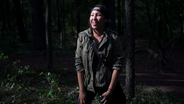 Cedar Landon, an Indigenous youth
