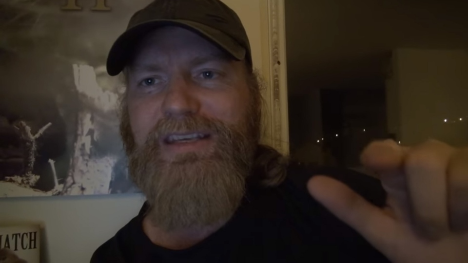 Self-proclaimed sasquatch tracker Todd Standing is shown in this image from the trailer for his documentary, 'Discovering Bigfoot.' (YouTube / Sylvanic Bigfoot)