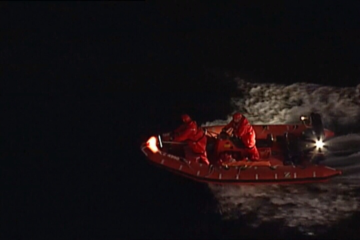 The Coast Guard was called after witnesses reported seeing a woman jump off the Queen of Cowichan ferry.