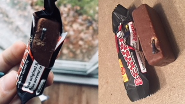 London police investigating after needle found in small chocolate bar