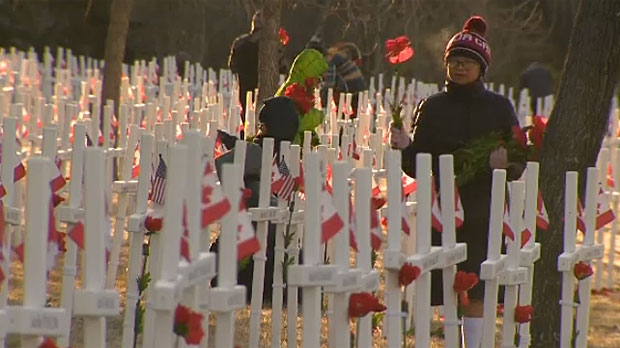 About 120 new crosses will be installed at the Field of Crosses this year. (File)
