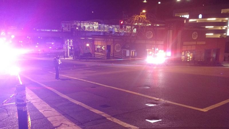 Police block the scene of a stabbing in New Westminster on Wednesday, Nov. 1, 2017. (Ben Miljure / CTV Vancouver)
