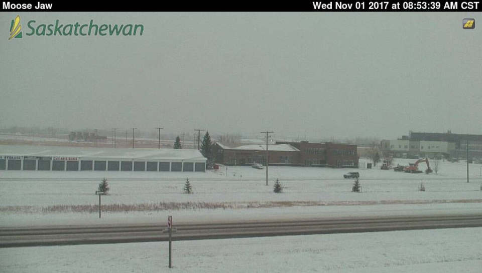Road conditions in Moose Jaw on Nov. 1, 2017. (HIGHWAY HOTLINE)