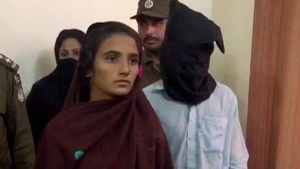 The accused is seen in this image from video