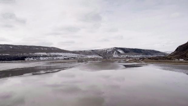 Site C Dam location along the Peace River