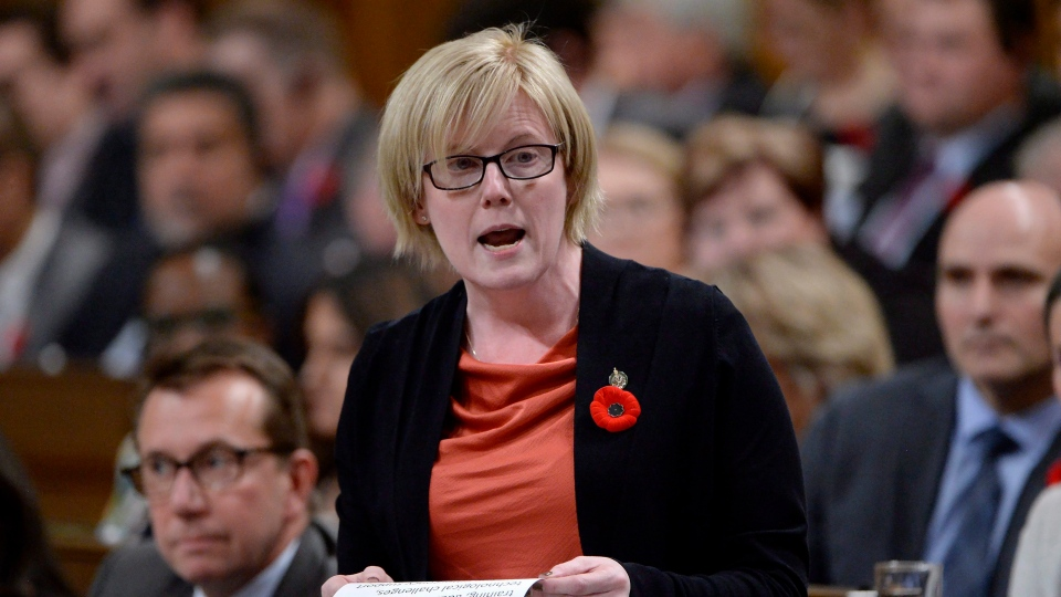 Public Services and Procurement Minister Carla Qualtrough responds to a question during Question Period in the House of Commons, in Ottawa on Tuesday, October 31, 2017. (Adrian Wyld / THE CANADIAN PRESS)