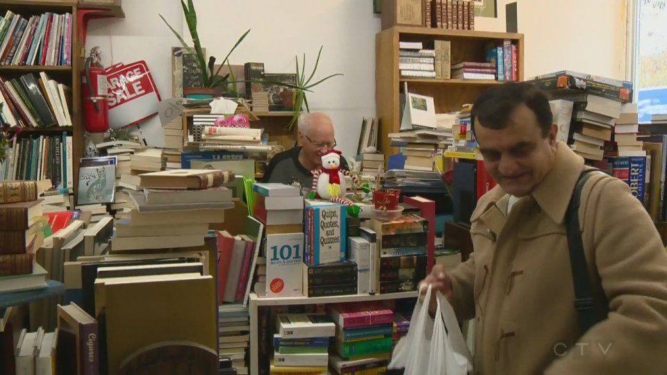 Terry Westcott is selling off everything from his secondhand bookstore on St. Laurent before he must close for good.
