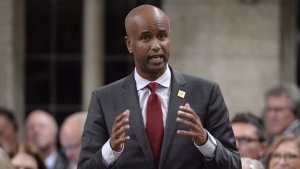 Minister of Immigration, Refugees and Citizenship Ahmed Hussen during question period in the House of Commons on Parliament Hill in Ottawa on Tuesday, Sept.26, 2017. (Adrian Wyld / THE CANADIAN PRESS)