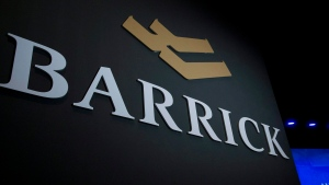 A logo for the Barrick Gold Corporation is seen in Toronto on Tuesday, April 28, 2015. (THE CANADIAN PRESS / Nathan Denette)