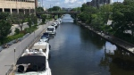 A section of the Rideau Canal, as seen from the Mackenzie King Bridge in Ottawa. (Ted Raymond / CFRA)