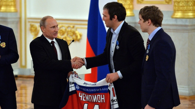 Putin and Ovechkin