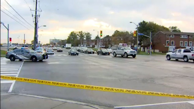 Six pedestrians struck by cars in Toronto Friday morning