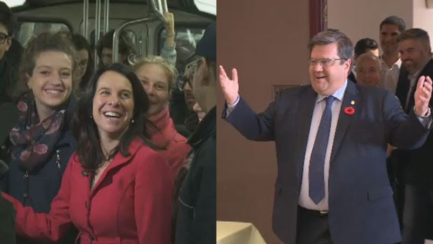 Valerie Plante and Denis Coderre are battling it out to win the mayor's seat.