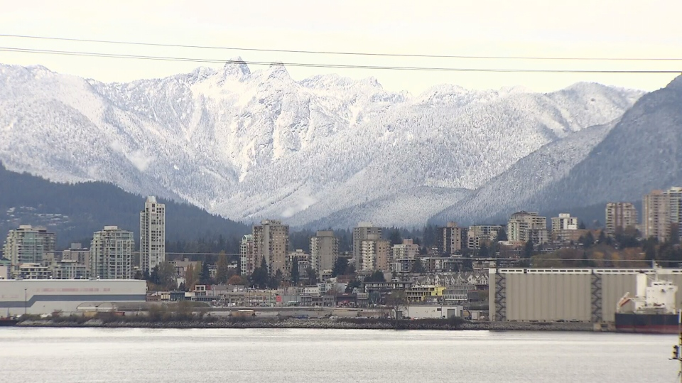 A blanket of snow covered the North Shore mountains on Thursday, Nov. 3, 2017.