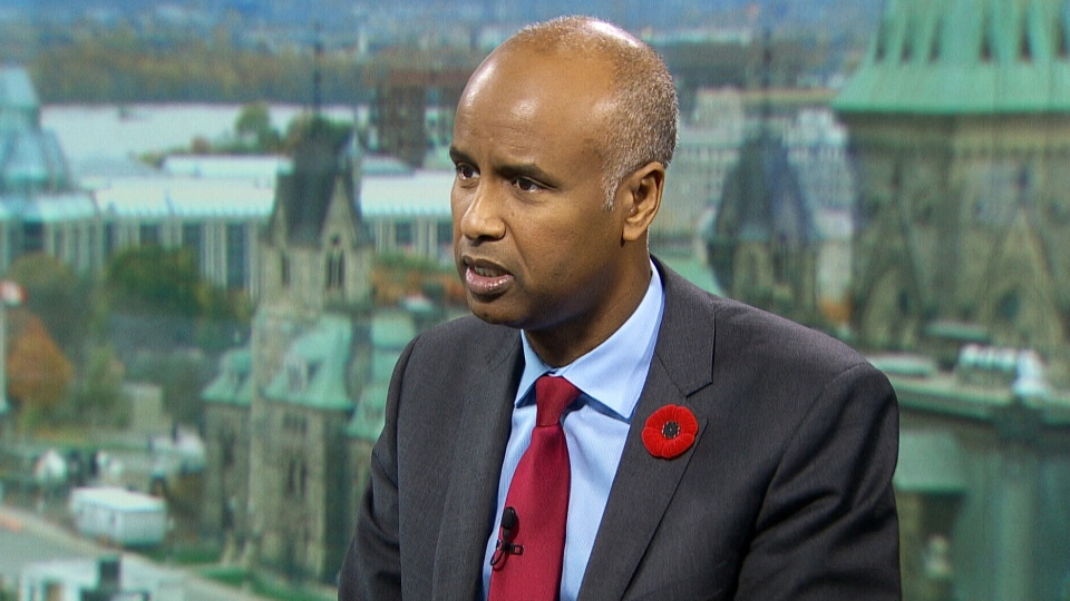 Immigration Minister Ahmed Hussen on CTV's Question Period.