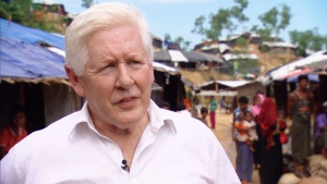 Canada's new special envoy to Myanmar, Bob Rae, has arrived in the south of Bangladesh.